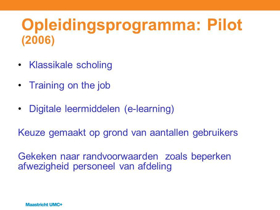 Opleidingsprogramma: Pilot (2006)