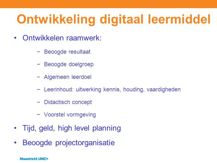 Ontwikkeling digitaal leermiddel