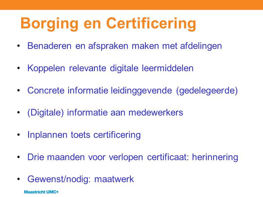 Borging en Certificering