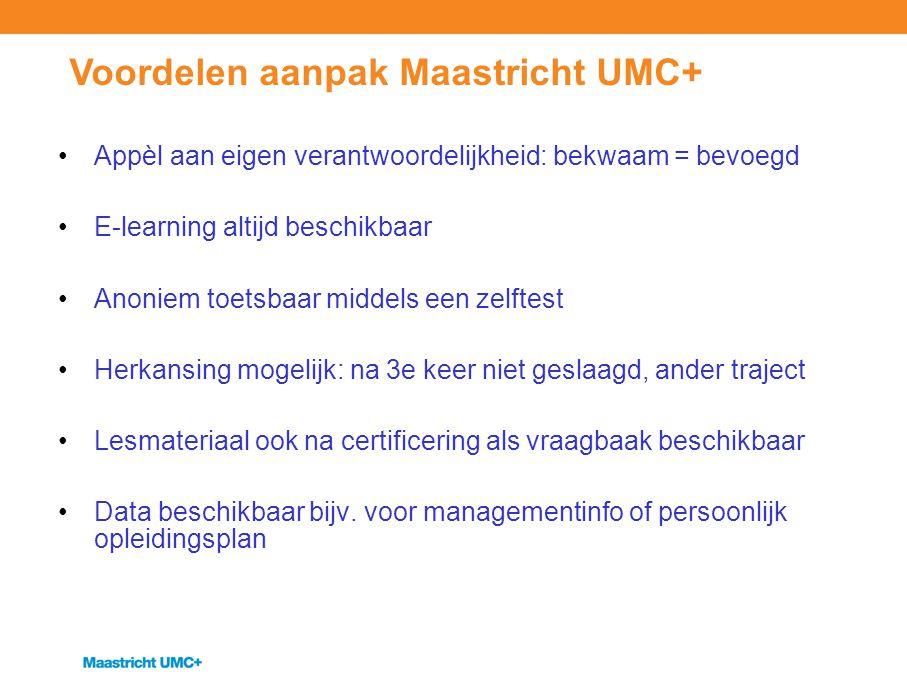 Voordelen aanpak Maastricht UMC+
