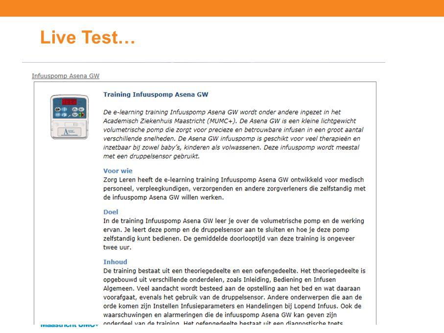 Live Test…