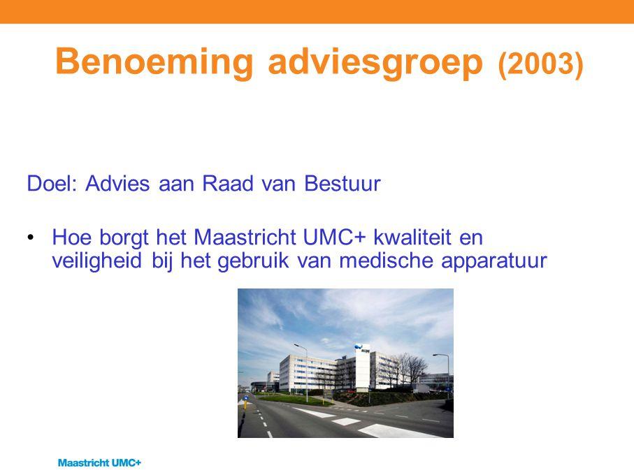 Benoeming adviesgroep (2003)