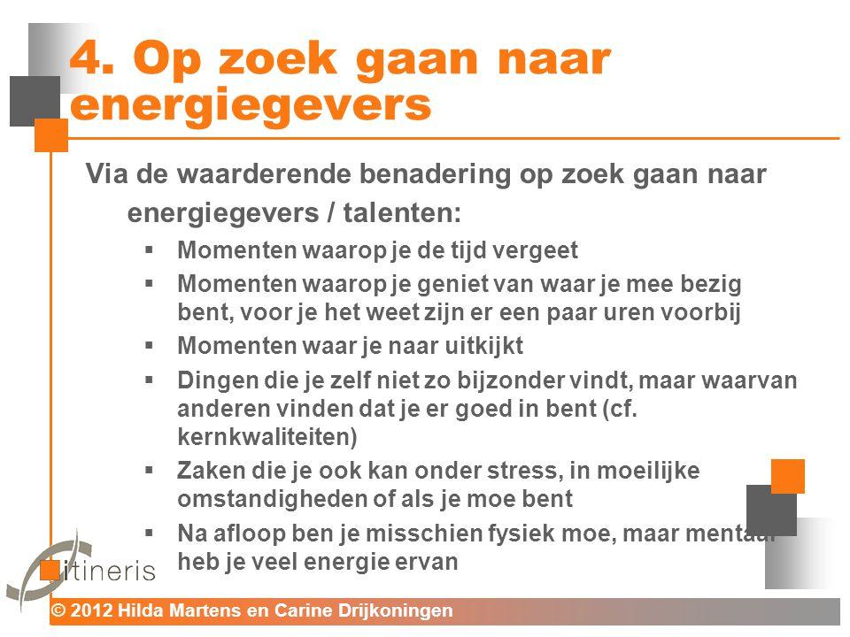 4. Op zoek gaan naar energiegevers