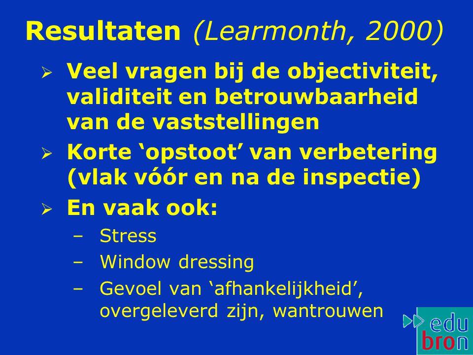 Resultaten (Learmonth, 2000)