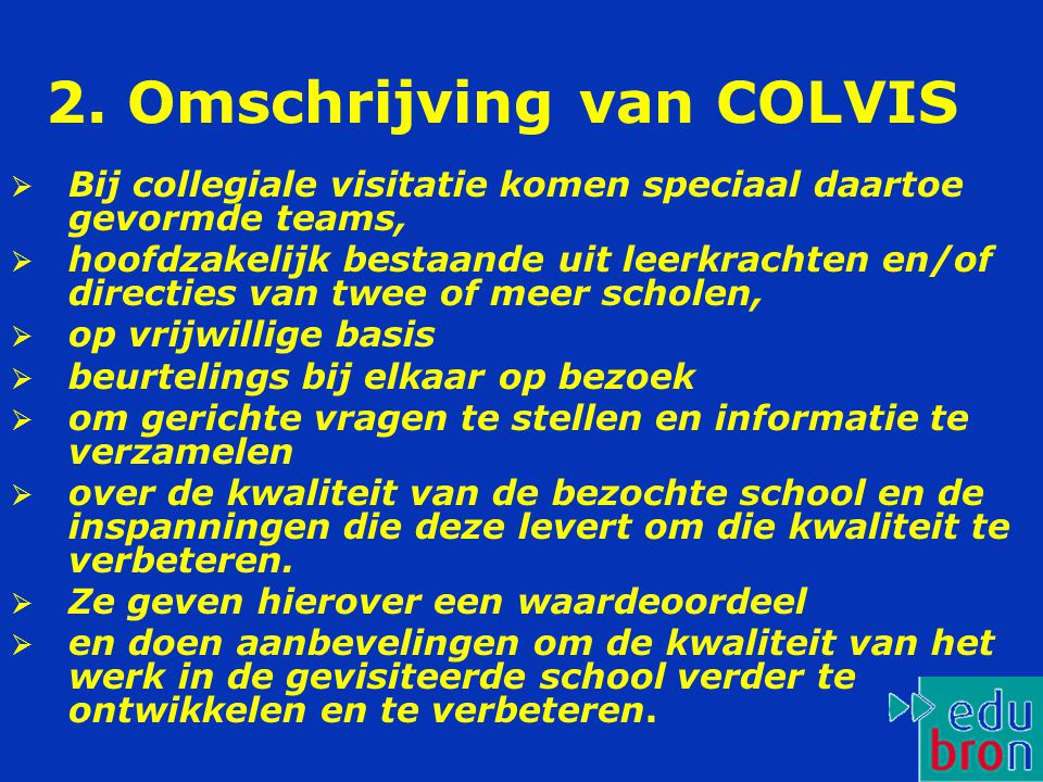 2. Omschrijving van COLVIS