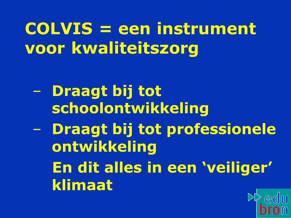 COLVIS = een instrument voor kwaliteitszorg