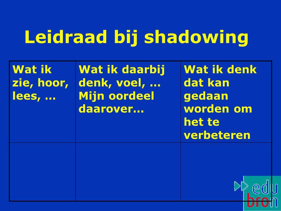 Leidraad bij shadowing