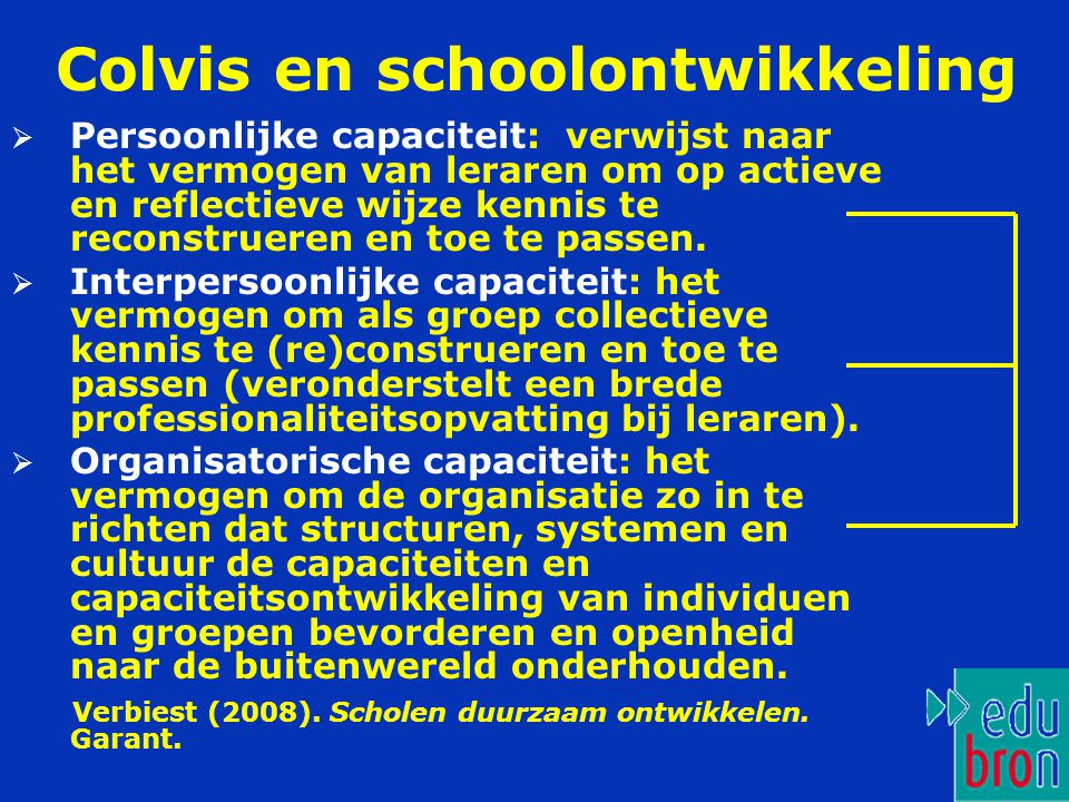 Colvis en schoolontwikkeling