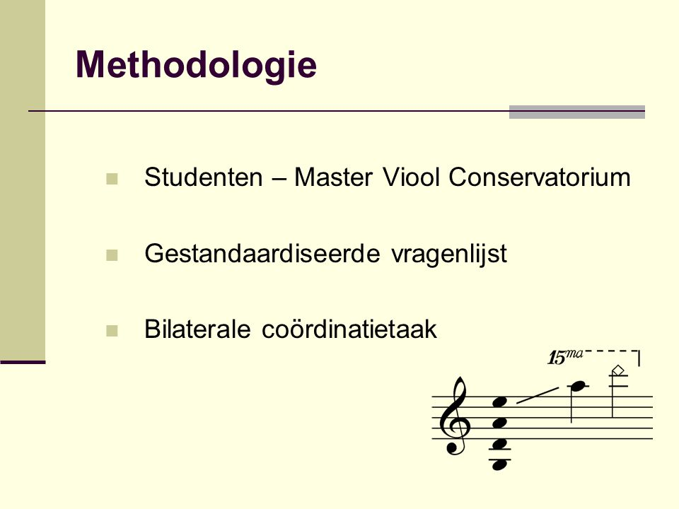 Methodologie Studenten – Master Viool Conservatorium