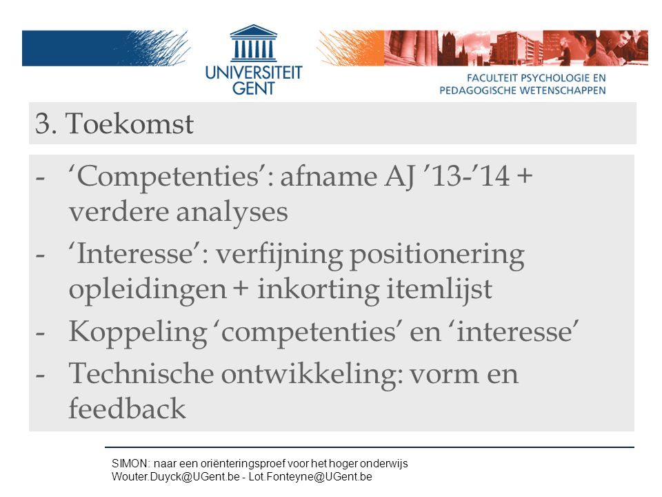 'Competenties': afname AJ '13-'14 + verdere analyses