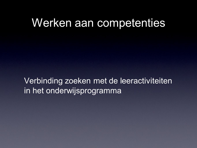 Werken aan competenties