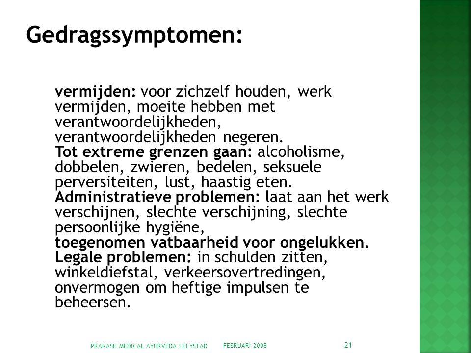 Gedragssymptomen: