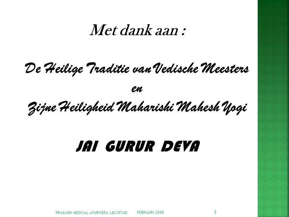 De Heilige Traditie van Vedische Meesters en