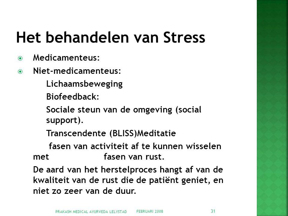 Het behandelen van Stress