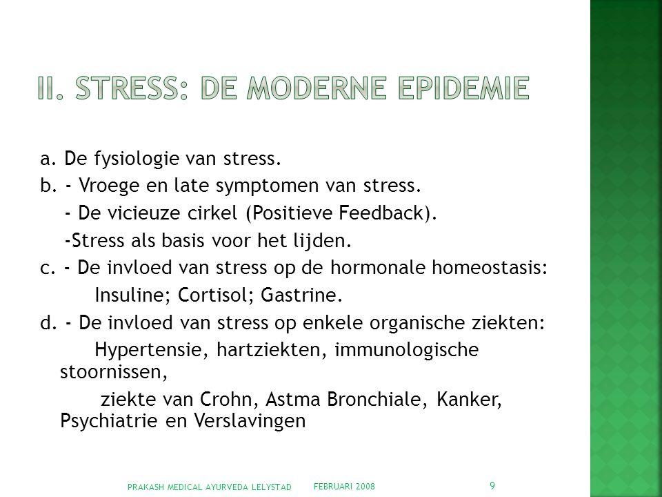 II. Stress: De moderne epidemie