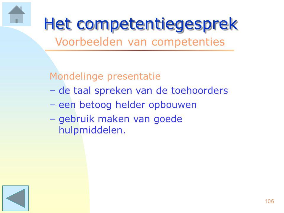 Het competentiegesprek