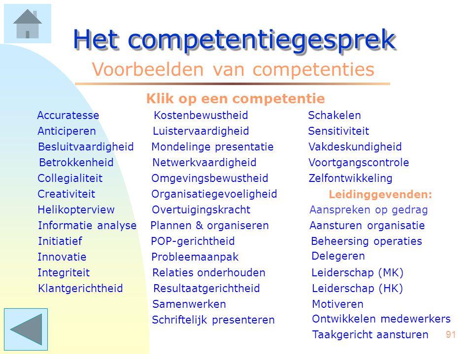 Klik op een competentie