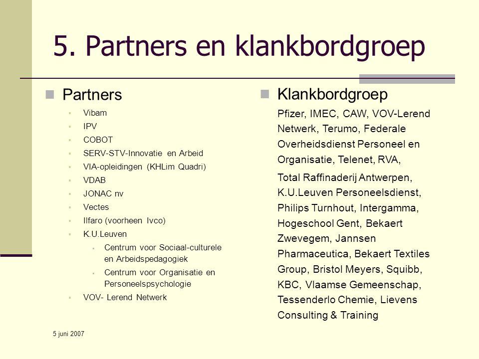 5. Partners en klankbordgroep