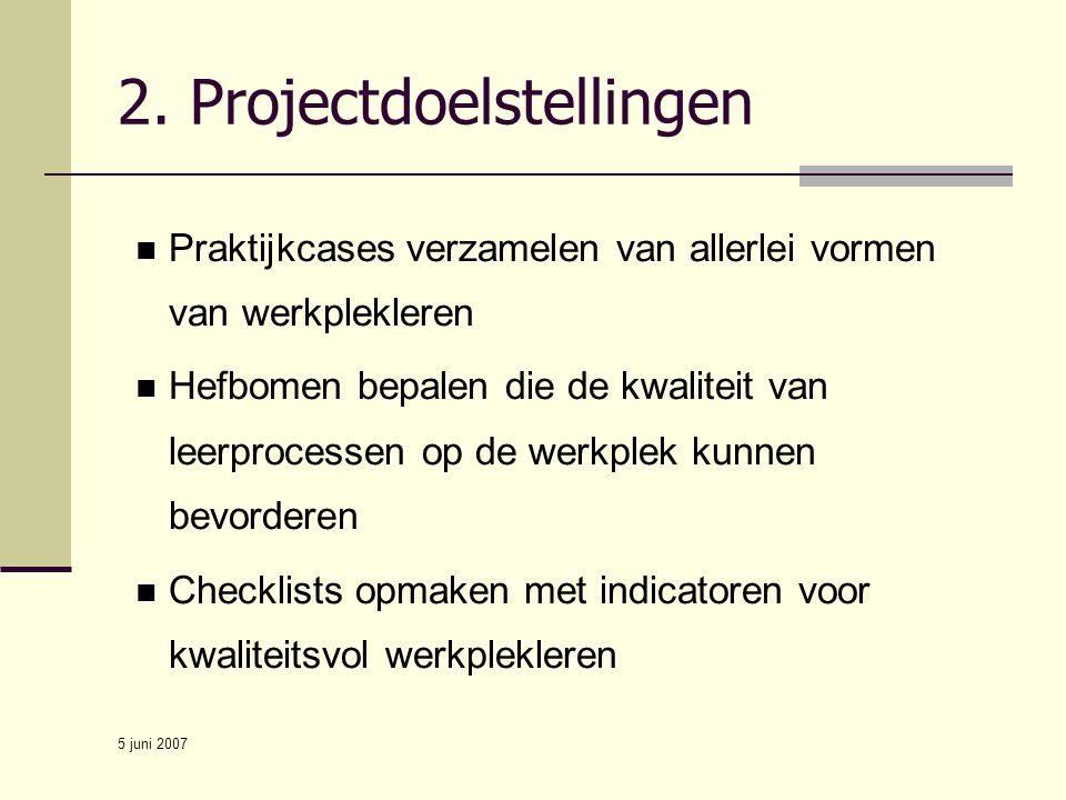 2. Projectdoelstellingen