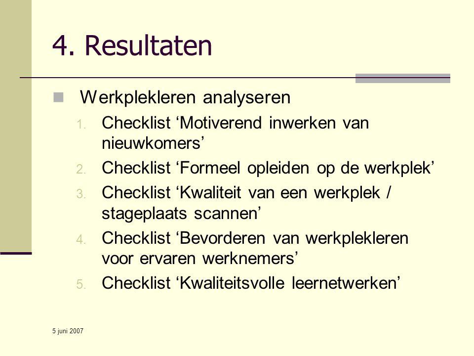 4. Resultaten Werkplekleren analyseren