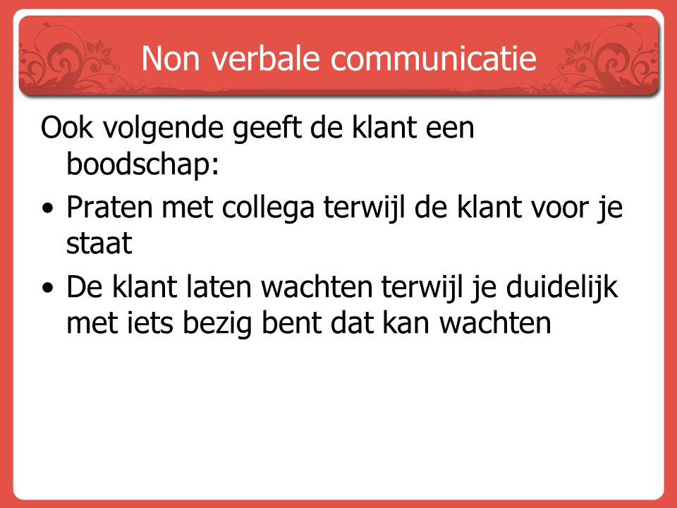 Non verbale communicatie