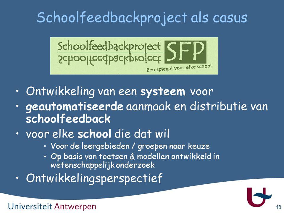 Schoolfeedbackproject als casus