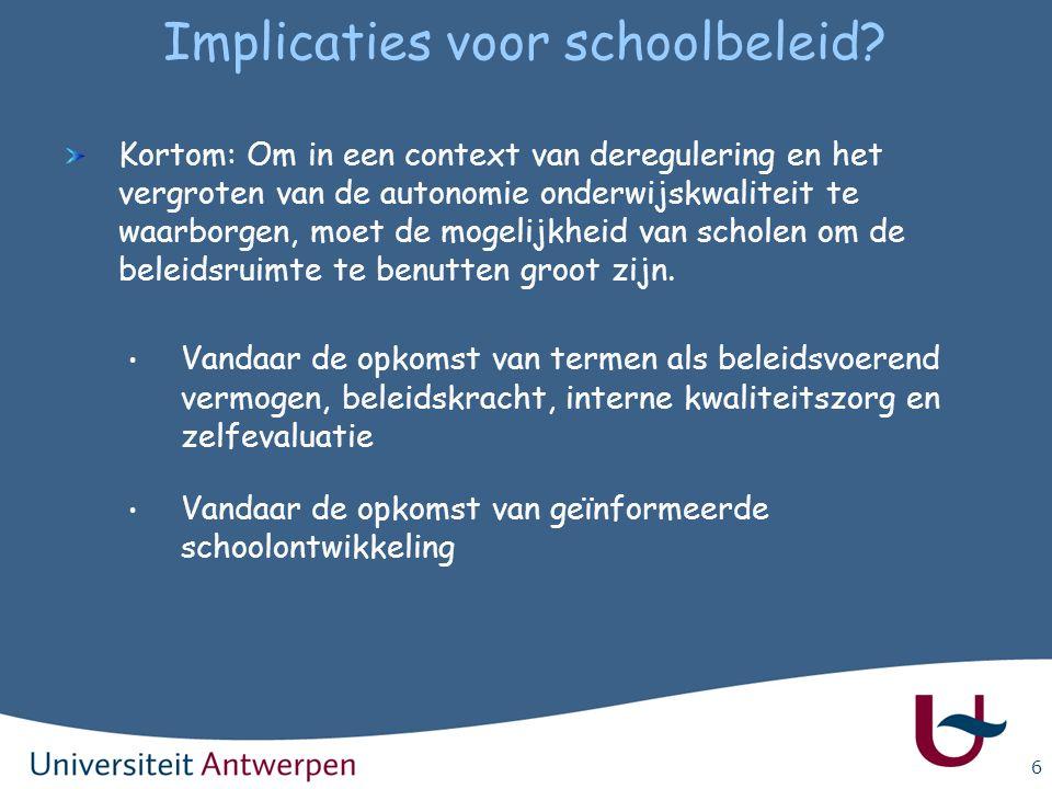 Implicaties voor schoolbeleid