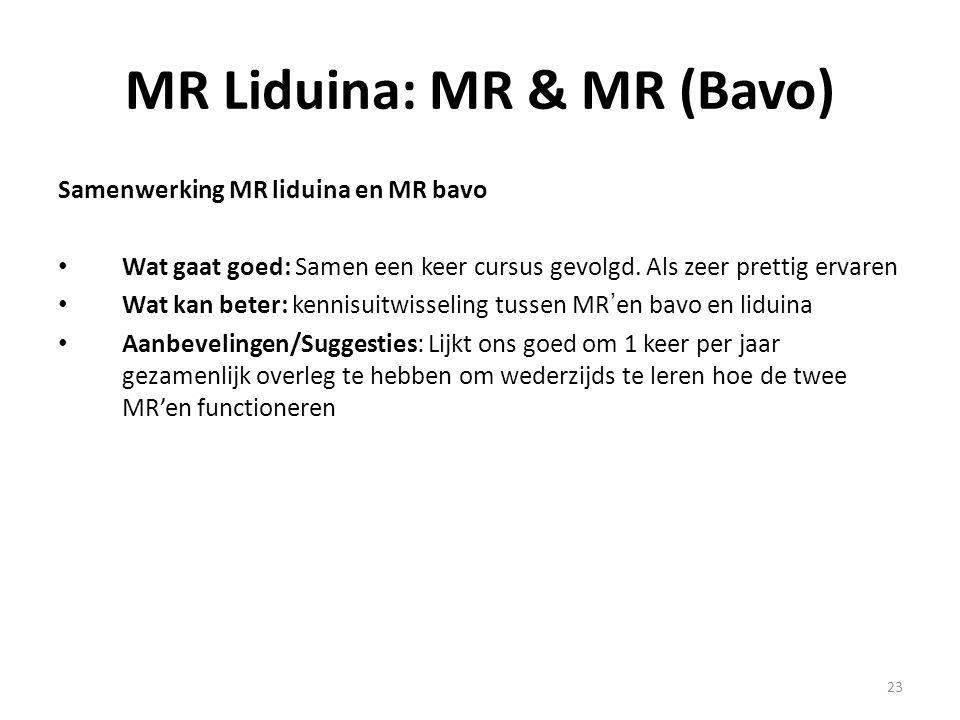 MR Liduina: MR & MR (Bavo)