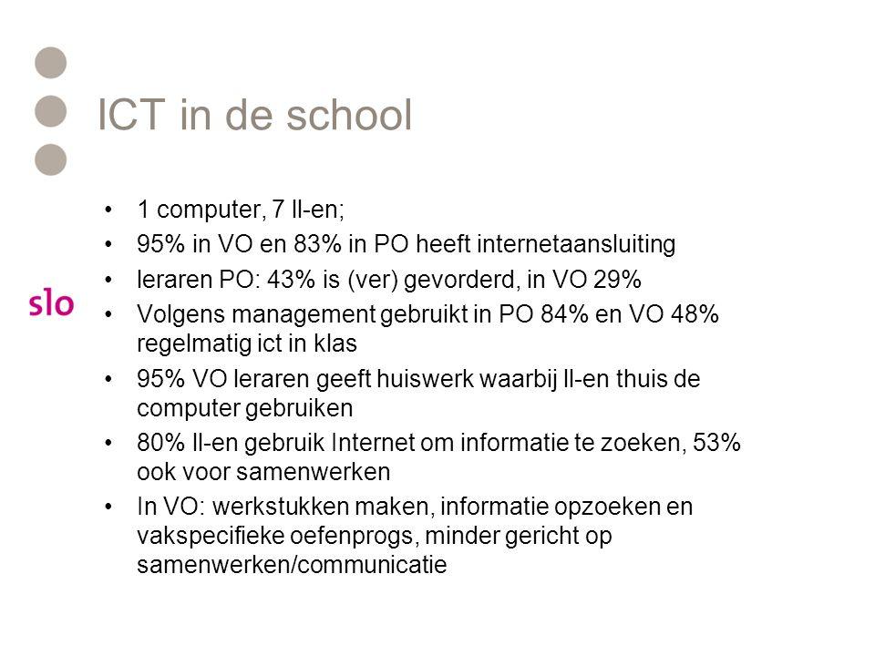 ICT in de school 1 computer, 7 ll-en;