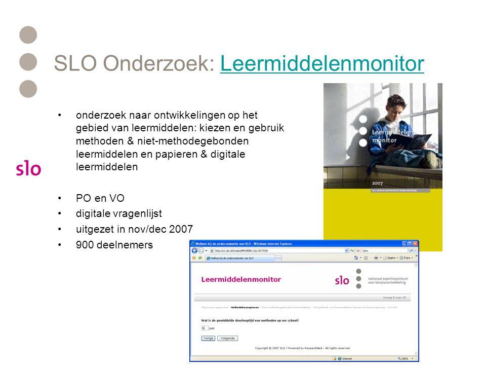 SLO Onderzoek: Leermiddelenmonitor