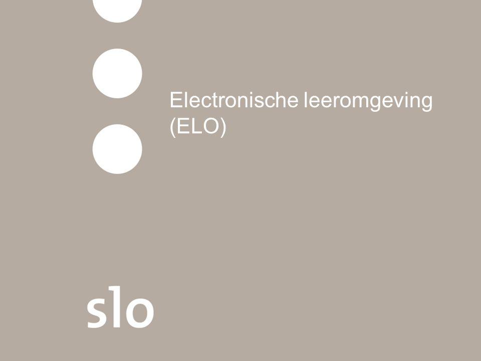 Electronische leeromgeving (ELO)