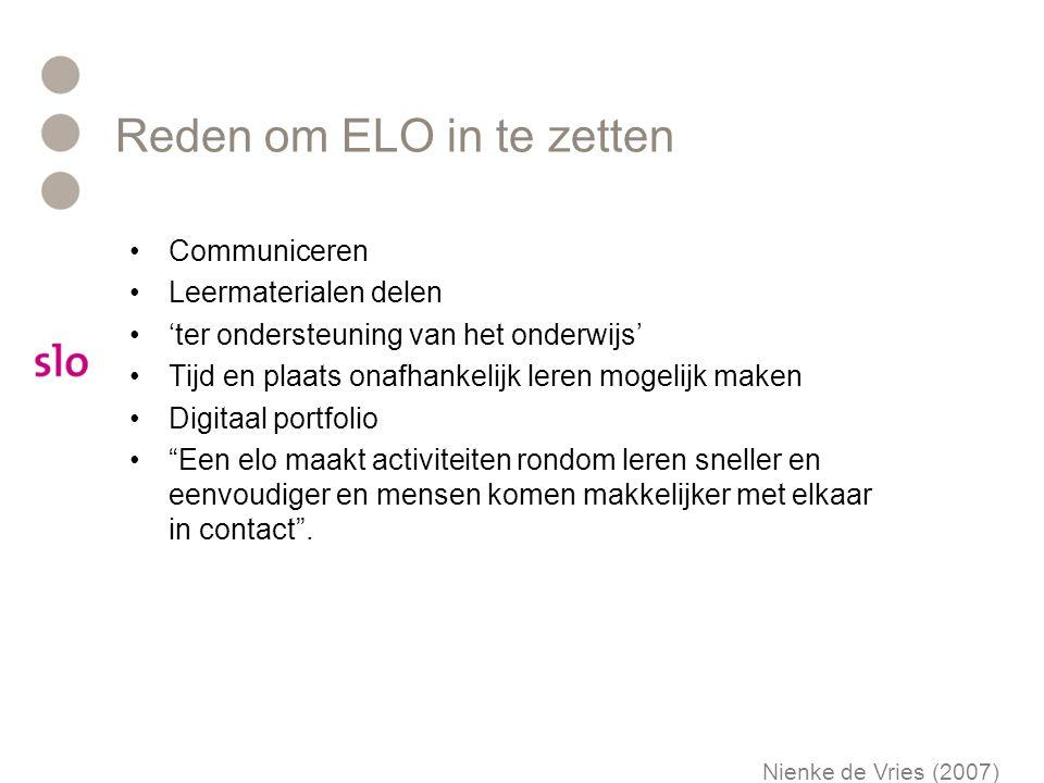 Reden om ELO in te zetten