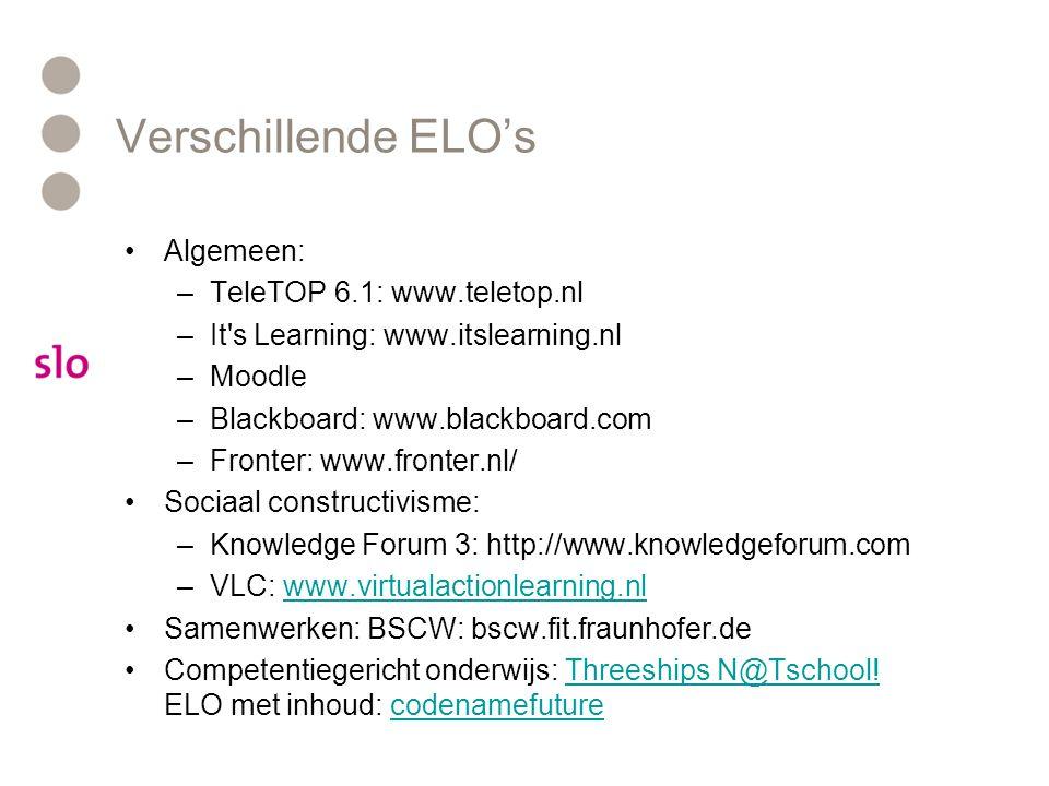 Verschillende ELO's Algemeen: TeleTOP 6.1: www.teletop.nl