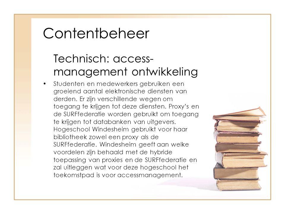 Contentbeheer Technisch: access-management ontwikkeling