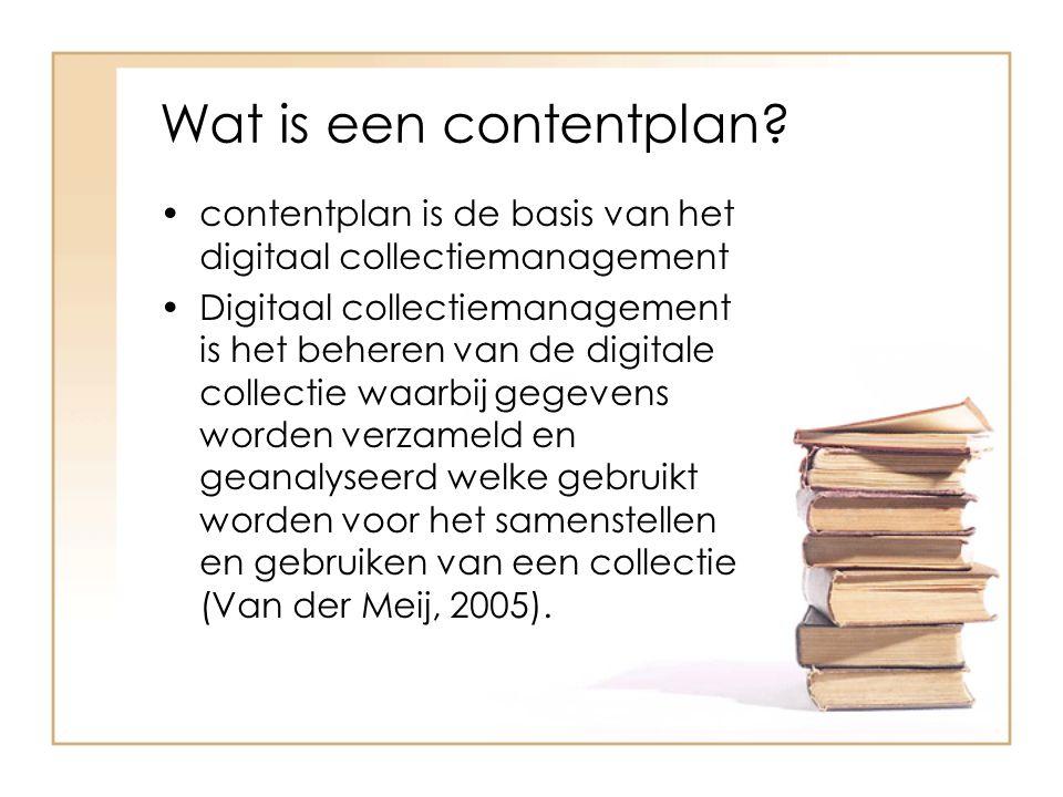 Wat is een contentplan contentplan is de basis van het digitaal collectiemanagement.