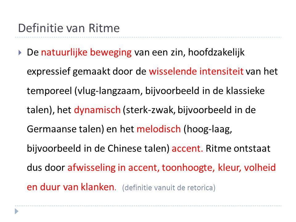 Definitie van Ritme