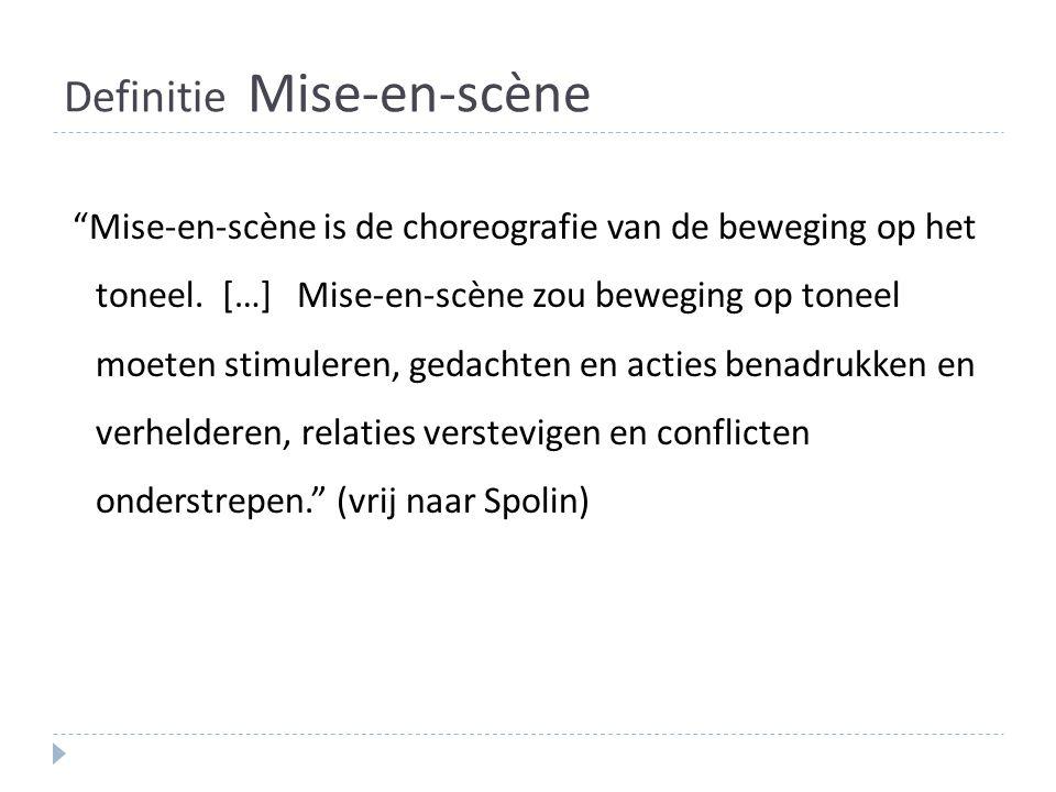 Definitie Mise-en-scène