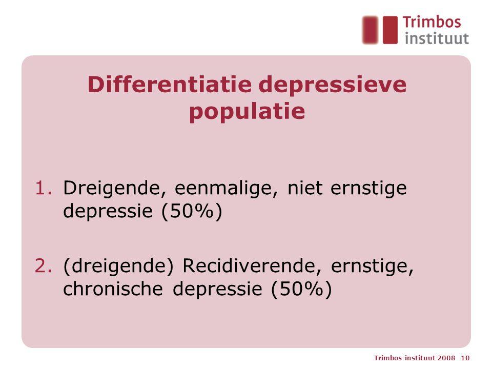 Differentiatie depressieve populatie