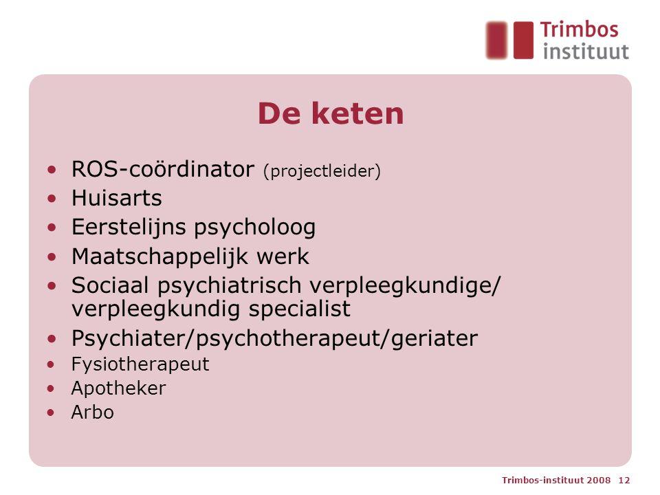 De keten ROS-coördinator (projectleider) Huisarts