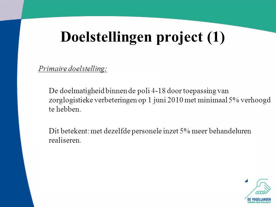 Doelstellingen project (1)