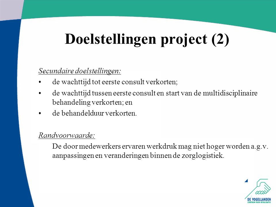 Doelstellingen project (2)