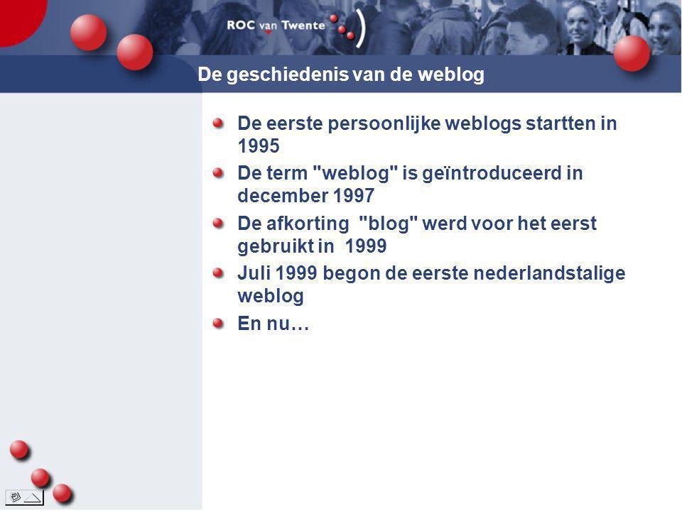 De geschiedenis van de weblog