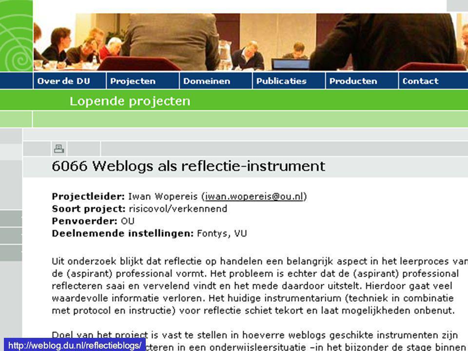 http://weblog.du.nl/reflectieblogs/ http://weblog.du.nl/reflectieblogs/