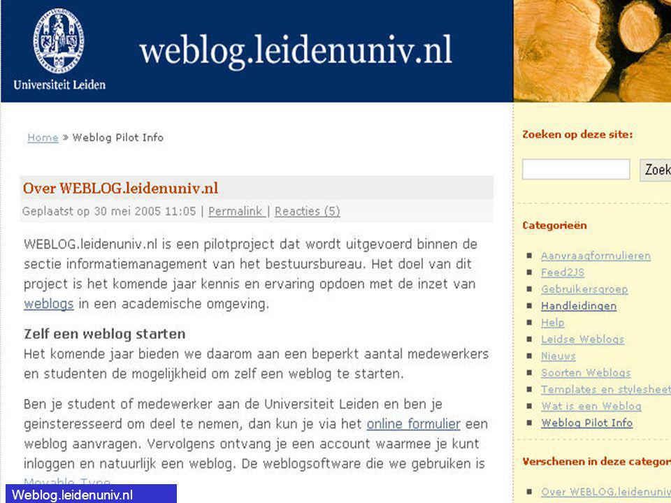 Weblog.leidenuniv.nl http://Weblog.leidenuniv.nl