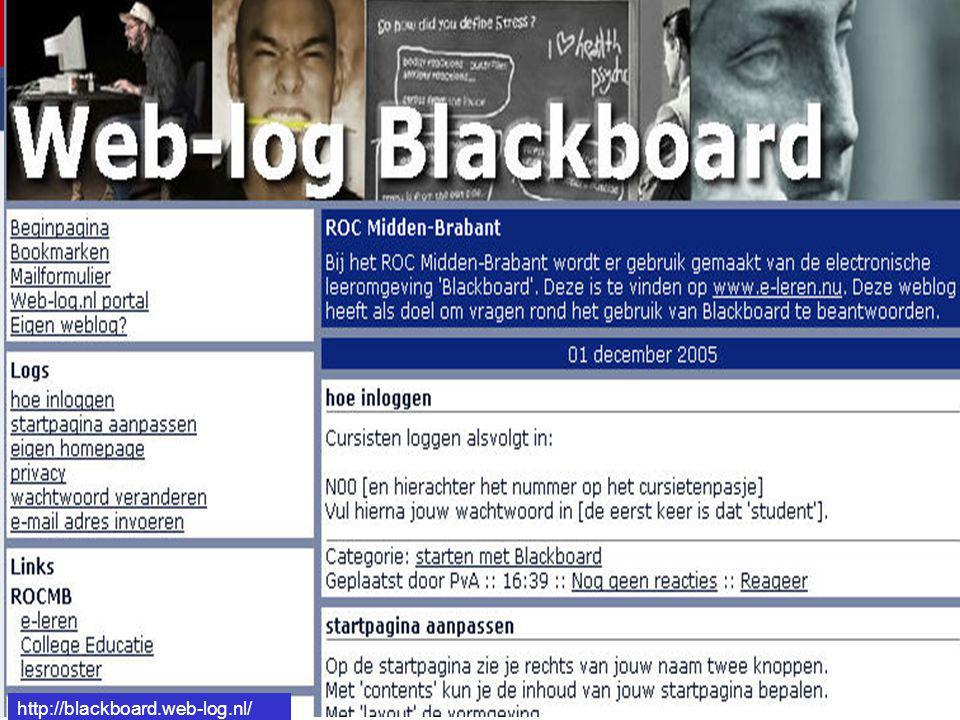 http://blackboard.web-log.nl/ http://blackboard.web-log.nl/