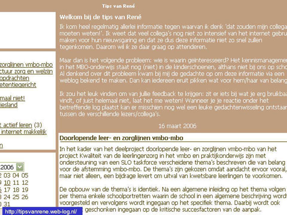 http://tipsvanrene.web-log.nl/ http://tipsvanrene.web-log.nl/