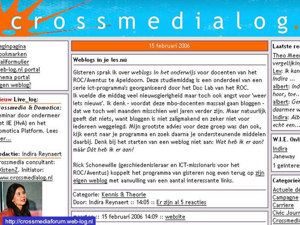 http://crossmediaforum.web-log.nl http://crossmediaforum.web-log.nl