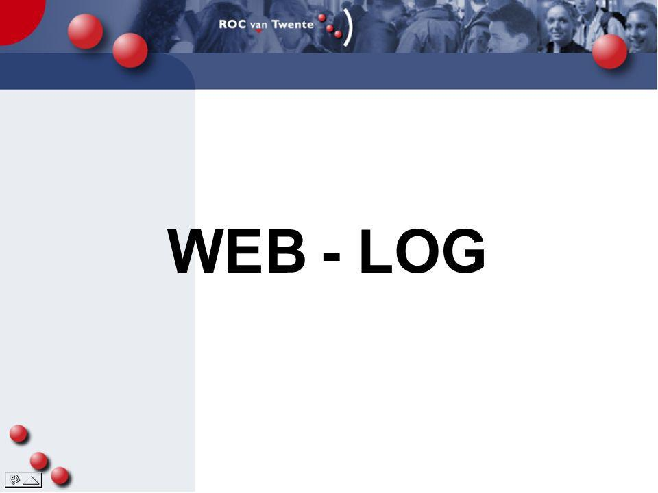 WEB - LOG Klik: op WEB Klik 2: LOG