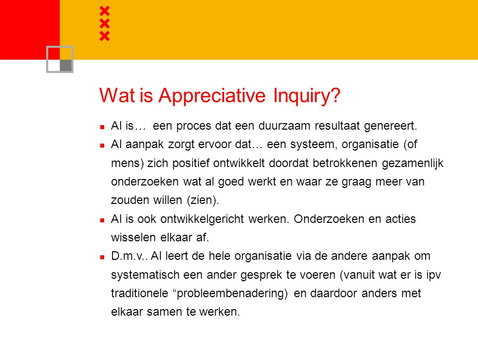 Wat is Appreciative Inquiry