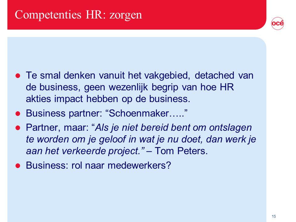 Competenties HR: zorgen